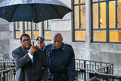 April 16, 2018 - Norristown, Pennsylvania, U.S - On a cold and rainy Monday,  BILL COSBY and his spokes person, ANDREW WYATT arrive to the Montgomery County court house on day six of his retrial for sexual abuse (Credit Image: © Ricky Fitchett via ZUMA Wire)