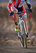 SHOT 1/12/14 3:55:53 PM - Jake Wells (#27) of Avon, Co. makes his way thru the Sand Pit during the Men's Elite race at the 2014 USA Cycling Cyclo-Cross National Championships at Valmont Bike Park in Boulder, Co.  (Photo by Marc Piscotty / © 2014)
