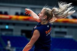 18-10-2018 JPN: World Championship Volleyball Women day 19, Yokohama<br /> Training day Netherlands in Yokohama Arena / Marrit Jasper #18 of Netherlands