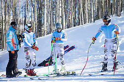 01.02.2015, Golden Peak Strecke, Vail, USA, FIS Weltmeisterschaften Ski Alpin, Training, im Bild Andreas Sander, Josef Ferstl, Klaus Brandner, alle (GER) // German Skiracers Andreas Sander, Josef Ferstl, Klaus Brandner during a practice run for the FIS Ski World Championships 2015 at the Golden Peak Course, Vail, United States on 2015/02/01. EXPA Pictures © 2015, PhotoCredit: EXPA/ Johann Groder
