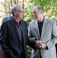 Herb Millman (left), and his partner John Dwyer of New Hope, Pennsylvania participate in a mass commitment ceremony to married couples and those in committed relationships Saturday October 17, 2015 at Ferry Street Park in New Hope, Pennsylvania.  (Photo by William Thomas Cain)