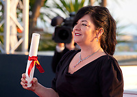 Lynne Ramsey winner of the award for Best Screenplay for the film You Were Never Really Here at the Award Winner's Photocall at the 70th Cannes Film Festival Saturday 27th May 2017, Cannes, France. Photo credit: Doreen Kennedy