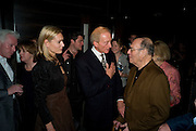Eleanor Boorman;  Charles Dance; Sir Harold Pinter, The afterparty following the press night of 'No Man's Land', at Mint Leaf. Haymarket October 7, 2008 *** Local Caption *** -DO NOT ARCHIVE-© Copyright Photograph by Dafydd Jones. 248 Clapham Rd. London SW9 0PZ. Tel 0207 820 0771. www.dafjones.com.
