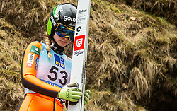 Nika Kriznar of Slovenia during Day 3 of World Cup Ski Jumping Ladies Ljubno 2019, on February 10, 2019 in Ljubno ob Savinji, Slovenia. Photo by Matic Ritonja / Sportida