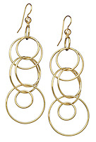 multi gold hoop dangling earrings