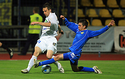 Ales Kacicnik of Celje vs Tadej Apatic of Domzale at 30th Round of Slovenian First League football match between NK Domzale and NK MIK CM Celje in Sports park Domzale, on April 25, 2009, in Domzale, Slovenia. Celje won 3:0. (Photo by Vid Ponikvar / Sportida)