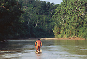 Yaminahua Indian poling Canoe<br />