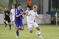 Fotball<br /> VM-kvalifisering<br /> 16.10.2012<br /> Kypros v Norge<br /> Foto: Savvides/Digitalsport<br /> NORWAY ONLY<br /> <br /> Aggelis Charalambous - Kypros<br /> Alexander Søderlund - Norge