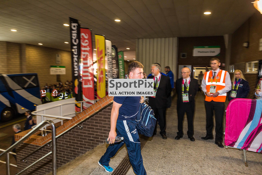 Duncan Weir arrives before the Rugby World Cup match between Scotland and Samoa (c) ROSS EAGLESHAM | Sportpix.co.uk