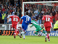 Photo: Ed Godden.<br />Swindon Town v Stockport County. Coca Cola League 2. 26/08/2006. Aaron Brown (out of picture) scores for Swindon. (1-0)
