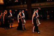 Viscount Dupplin and Iona, Duchess of Argyll followed by Viscountess Dupplin and Guy Macpherson Grant. . The  Royal Caledonian Ball in aid of The Royal Caledonian Ball Trust held at The Grosvenor House Hotel, Park Lane, London W1.  28  April 2005. ONE TIME USE ONLY - DO NOT ARCHIVE  © Copyright Photograph by Dafydd Jones 66 Stockwell Park Rd. London SW9 0DA Tel 020 7733 0108 www.dafjones.com