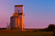 Grain elevator at sunset<br /> Netley<br /> Manitoba<br /> Canada