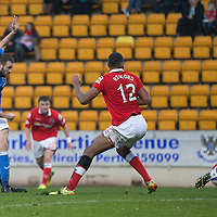 St Johnstone v Ross County....22.11.14   SPFL<br /> James McFadden scores to make it 1-0<br /> Picture by Graeme Hart.<br /> Copyright Perthshire Picture Agency<br /> Tel: 01738 623350  Mobile: 07990 594431