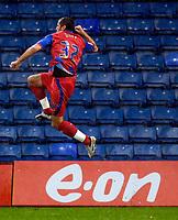 Photo: Alan Crowhurst.<br />Crystal Palace v Swindon Town. The FA Cup. 06/01/2007.<br />Palace's Shefki Kuqi celebrates his goal 1-0.
