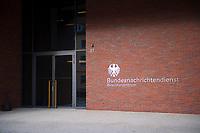 DEU, Deutschland, Germany, Berlin, 08.02.2019: Eröffnung der neuen Zentrale des Bundesnachrichtendienstes (BND), Eingang zum Besucherzentrum des BND.