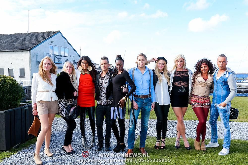 NLD/Loosdrecht/20130221 - Perspresentatie RTL programma Echte Meisje op de Prairie, Michella Kox, Gio Diekema, Ovo Drenth, Ricardo Visser, Bram de Bruyn, Sunny Parag, joost, Claire Recout, Jill Kleinjan,