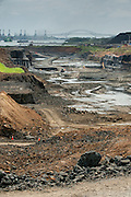 Excavations in the Panama Canal expansion project. Panama City, Panama, Central America.