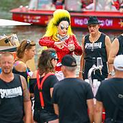 NLD/Amsterdam/20180604 - Gaypride 2018, Spijkerbar boot