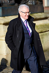 """FIL PICTURE: Thames Water has been fined a record £20m after pumping nearly 1.5 billion litres of untreated sewage into the River Thames.<br /> © Licensed to London News Pictures. 13/02/2017. Aylesbury, UK.  STEVE ROBERTSON, chief executive officer of Thames Water, leaves Aylesbury Crown Court after attending a mitigation hearing. The utility company is due to be sentenced on 24 March after pleading guilty to a range of environmental offences dating back to 2013. In court the judge commented that """"sewage spilled out left, right and centre"""" that had a """"terrible impact on the environment."""" He also warned that the fine will be """"substantial"""" and that """"the company must be punished and not the customers."""" In total nearly half a billion liters of raw or partially treated sewage was discharged into the Thames from five sites in Buckinghamshire and Oxfordshire.  Photo credit: Cliff Hide/LNP"""