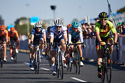 Lotta Lepistö (FIN) secures the overall win with a second place finish in the final sprint at Toward Zero Women's Race Melbourne 2019, a 63.6 km criterium in Melbourne, Australia on January 24, 2019. Photo by Sean Robinson/velofocus.com