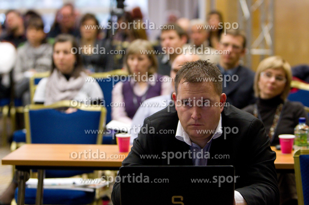 Matej Avanzo of KZS during Sporto  2010 - Sports marketing and sponsorship conference, on November 29, 2010 in Hotel Slovenija, Portoroz/Portorose, Slovenia. (Photo By Vid Ponikvar / Sportida.com)