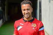 MK Dons striker Nicky Maynard during the Sky Bet Championship match between Milton Keynes Dons and Nottingham Forest at stadium:mk, Milton Keynes, England on 7 May 2016. Photo by Dennis Goodwin.