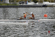 Poznan, POLAND,  NED LW2X, Bow Kirsten van de KLOK and marit van EUPEN secure Olympic selection for the 2008 Beijing Olympics by winning the gold medal in the lightweight women's double scull, at the 2008 Olympic Qualification  Rowing Regatta. Malta Rowing Course on Wednesday, 18/06/2008. [Mandatory Credit:  Peter SPURRIER / Intersport Images] Rowing Course:Malta Rowing Course, Poznan, POLAND