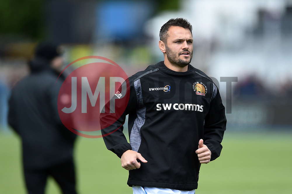 Phil Dollman of Exeter Chiefs - Mandatory byline: Patrick Khachfe/JMP - 07966 386802 - 04/05/2019 - RUGBY UNION - Allianz Park - London, England - Saracens v Exeter Chiefs - Gallagher Premiership Rugby
