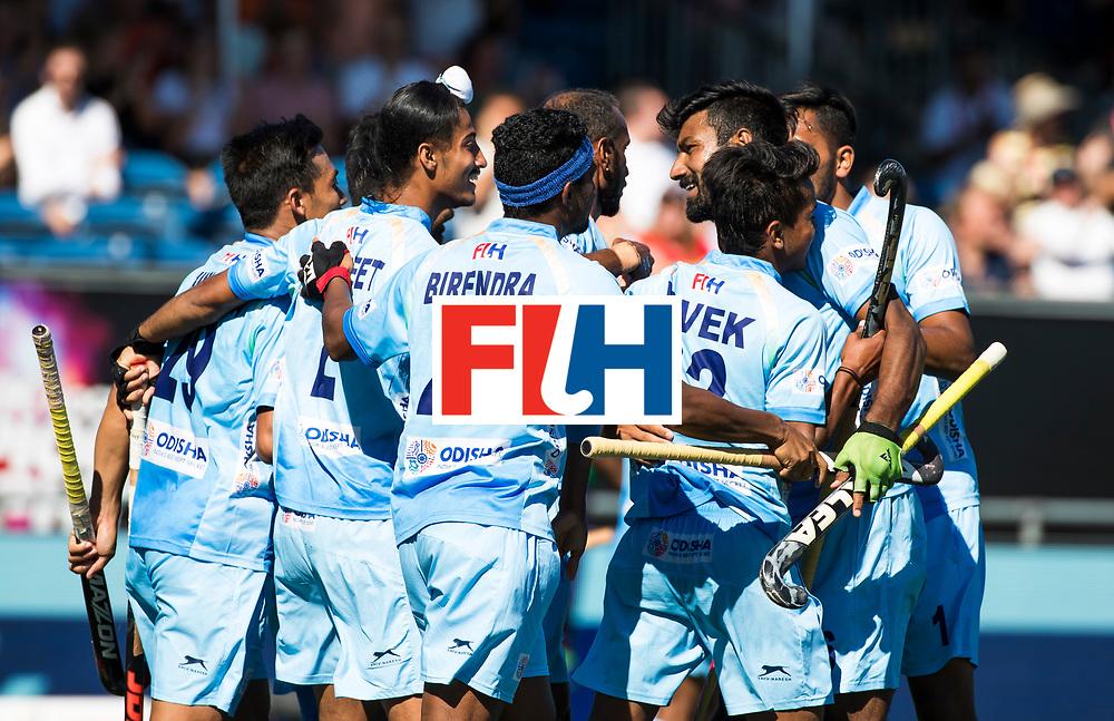 BREDA - India scoort  Australia-India (1-1), finale Rabobank Champions Trophy 2018. Australia wint shoot outs.   links Sunil Sowmarpet (Ind.) COPYRIGHT  KOEN SUYK
