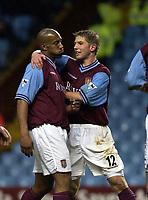 Date: 2/2/2003<br />Aston Villa v Blackburn Rovers FA Barclaycard Premiership<br />Dion Dublin is congratulated by Thomas Hitzlsperger after scoring Villa's second goal<br />Foto: Henry Browne, Digitalsport