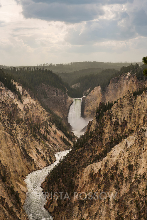 View from Artist's Point at the Grand Canyon of the Yellowstone River in Yellowstone National Park, Wyoming, United States.