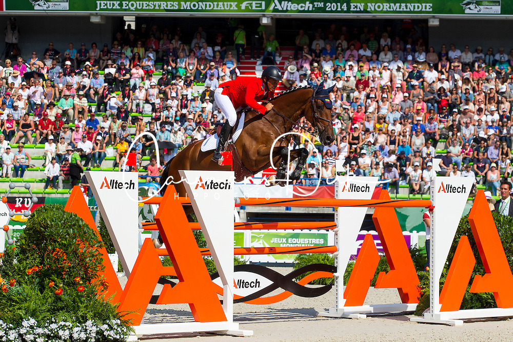 Pablo Barrios, (VEN), Antares, World Champions, - Second Round Team Competition - Alltech FEI World Equestrian Games&trade; 2014 - Normandy, France.<br /> &copy; Hippo Foto Team - Leanjo De Koster<br /> 25/06/14