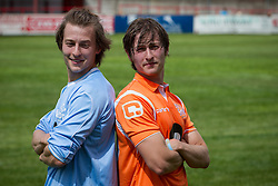 © Licensed to London News Pictures . 02/08/2015 . Droylsden Football Club , Manchester , UK . ELLIOTT and LUKE TITTENSOR . Celebrity football match in aid of Once Upon a Smile and Debra , featuring teams of soap stars . Photo credit : Joel Goodman/LNP
