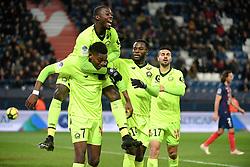 January 11, 2019 - Caen, France - 19 NICOLAS PEPE (LIL) - 07 RAFAEL LEAO (LIL) - 14 JONATHAN BAMBA (LIL) - JOIE (Credit Image: © Panoramic via ZUMA Press)