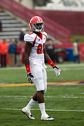 13 October 2012: Kintrell Disher during an NCAA football game between the Youngstown State Penguins and the Illinois State Redbirds.  The Redbirds won the game by a score of 35-28 at Hancock Stadium in Normal Illinois