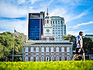 Independence Hall in downtown Philadelphia, PA. <br /> <br /> /// ADDITIONAL INFORMATION: 7/19/11 - travel.Lincoln.East.0929  - STUART PALLEY, ORANGE COUNTY REGISTER - Lincoln Highway July 2013.