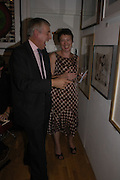 Jack Straw and Anita Klein. Royal Society of Painter-Printmakers Annual exhibition. Opened by Jack Straw. Bankside Gallery. London. 14 September 2005. ONE TIME USE ONLY - DO NOT ARCHIVE  © Copyright Photograph by Dafydd Jones 66 Stockwell Park Rd. London SW9 0DA Tel 020 7733 0108 www.dafjones.com
