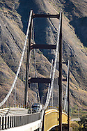 Photo Randy Vanderveen<br /> Dunvegan, Alberta<br /> 2014-09-06<br /> The Dunvegan Bridge Alberta Highway 2 crosses the Peace River between Rycroft and Fairview.