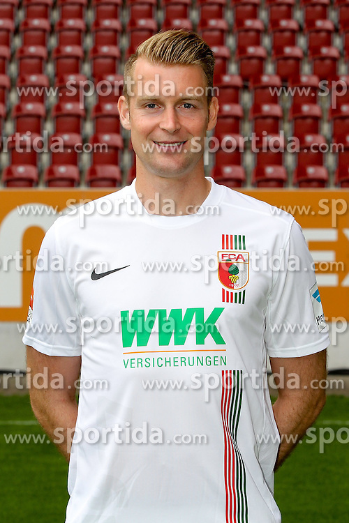 08.07.2015, WWK Arena, Augsburg, GER, 1. FBL, FC Augsburg, Fototermin, im Bild Jan-Ingwer Callsen-Bracker #18 (FC Augsburg) // during the official Team and Portrait Photoshoot of German Bundesliga Club FC Augsburg at the WWK Arena in Augsburg, Germany on 2015/07/08. EXPA Pictures &copy; 2015, PhotoCredit: EXPA/ Eibner-Pressefoto/ Kolbert<br /> <br /> *****ATTENTION - OUT of GER*****