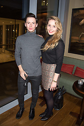 LOCHLAN LONDON and JEMIMA LAWSON at the launch of BAR20 at Birleys, 20 Fenchurch Street, City of London on 10th November 2015.