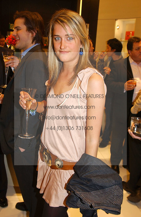 """MISS VIOLET VON WESTENHOLTZ at a party to celebrate the opening of the new Mont Blanc store at 151 Sloane Street, London on 9th March 2005.  The evening was held in conjunction with UNICEF's """"Sign up for the right to write"""" campaign which is raising money though the sale of celebraties 'statements' currently for auction on the ebay website.<br /><br />NON EXCLUSIVE - WORLD RIGHTS"""