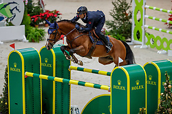 BICOCCHI Emilio (ITA), Flinton<br /> Genf - CHI Geneve Rolex Grand Slam 2019<br /> Prix des Communes Genevoises<br /> 2-Phasen-Springen<br /> International Jumping Competition 1m50<br /> Two Phases: A + A, Both Phases Against the Clock<br /> 13. Dezember 2019<br /> © www.sportfotos-lafrentz.de/Stefan Lafrentz