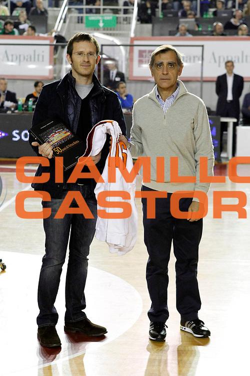 DESCRIZIONE : Roma Lega Basket A 2011-12 Acea Virtus Roma Vanoli Cremona<br /> <br /> GIOCATORE : Claudio Toti e Cristiano Sandri<br /> <br /> CATEGORIA : premiazione<br /> <br /> SQUADRA : <br /> <br /> EVENTO : Campionato Lega Basket A 2011-2012<br /> <br /> GARA : Acea Virtus Roma Vanoli Cremona<br /> <br /> DATA : 13/11/2011<br /> <br /> SPORT : Pallacanestro <br /> <br /> AUTORE : Agenzia Ciamillo-Castoria/ A.Ciucci<br /> <br /> Galleria : Lega Basket A 2011-2012 <br /> <br /> Fotonotizia : Lega Basket A 2011-12 Acea Virtus Roma Vanoli Cremona<br /> <br /> Predefinita :