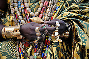 King Tossoh Gbaguidi XIII of Savalou, Benin February on  26, 2008.  Kings are perceived as moral figures in Benin society. It's the kings who maintain good relations with the official government, mediating between the people and the government on certain matters. Many citizens consider Benin's peaceful shift to democracy in 1990 as a miracle. The traditional kings played a role in assuring that process.