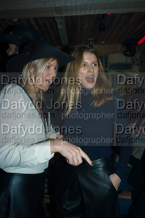 MICHELLE HUNTER; MONICA AINLEY;, The launch of Beaver Lodge in Chelsea, a cabin bar and dance saloon, 266 Fulham Rd. London. 4 December 2014