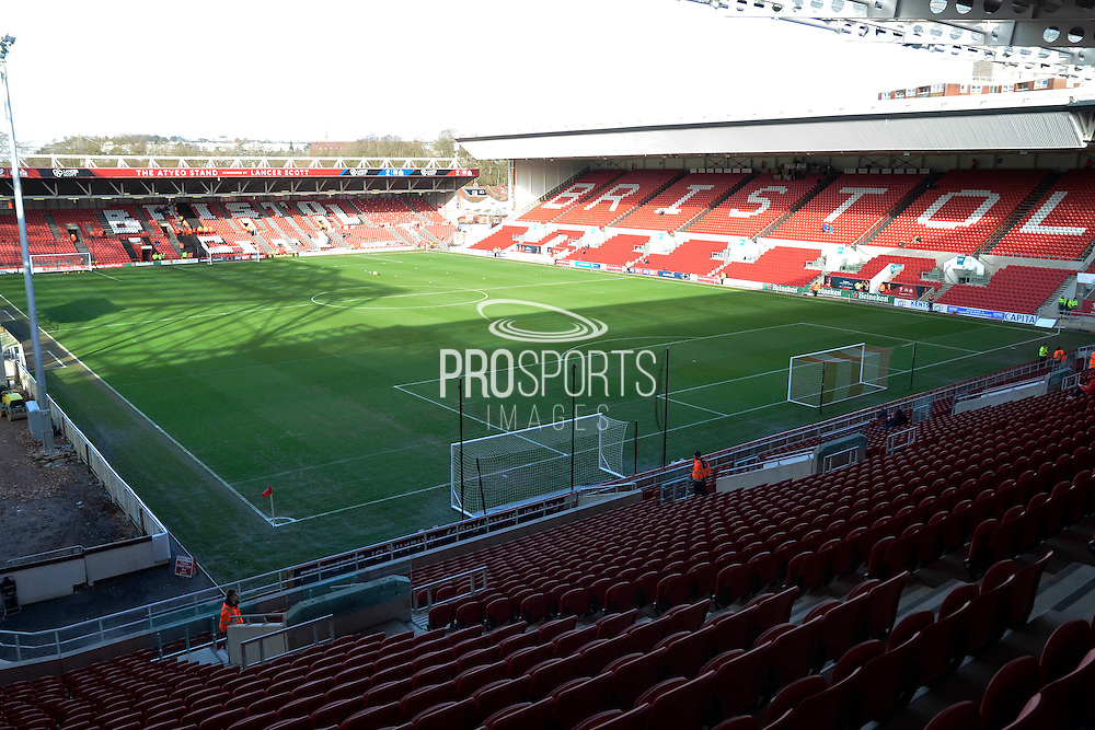 Ashton Gate stadium during the Sky Bet Championship match between Bristol City and Birmingham City at Ashton Gate, Bristol, England on 30 January 2016. Photo by Alan Franklin.
