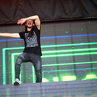 Steve Aoki performs during the Firefly Music Festival in Dover, Delaware June 21, 2015. According to organizers, attendance exceeded 90,000 for the four day festival, which featured more than 110 acts, and was set in 105 acre grounds of the Dover International Speedway.