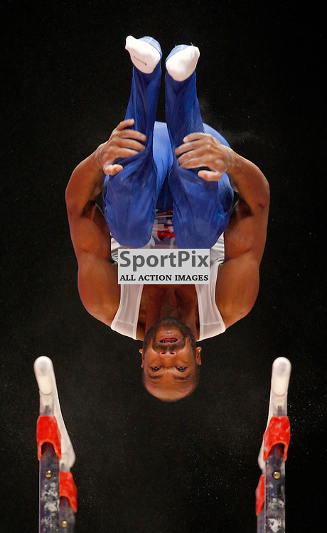 2015 Artistic Gymnastics World Championships being held in Glasgow from 23rd October to 1st November 2015.....Axel Augis (France) competing in the Parallel Bars competition..(c) STEPHEN LAWSON | SportPix.org.uk