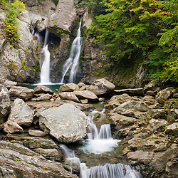 Bish Bash Falls in Bish Bash Falls State Park in Mount Washington, Massachusetts.