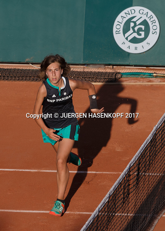 French Open 2017 Feature, Ballmaedchen<br /> <br /> Tennis - French Open 2017 - Grand Slam / ATP / WTA / ITF -  Roland Garros - Paris -  - France  - 30 May 2017.